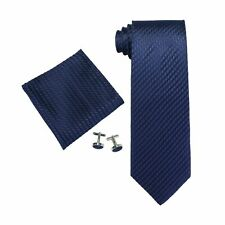 "Landisun Skinny Tie Silk Tie Satin Slim Necktie Exclusive 3.25""Wx59""L Navy Blue"