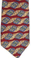 "Guy Laroche Men's Silk Tie 60"" X 4"" Multi-Color Geometric Horizontal Striped"