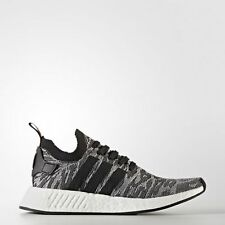NEW BY9409 MENS ADIDAS NMD_R2 PK SHOE !! CORE BLACK/WHITE