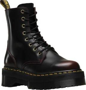 Dr Martens Jadon 8 Eye Zip Platform Combat Red Cherry Leather Boots 13 Mens
