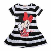 Cute Children Kids Baby Girls Dresses Clothes Child  Cartoon Summer Mini Short