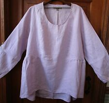 FLAX  Linen  Shirt   3G   NWT  Play In It   LAVENDER