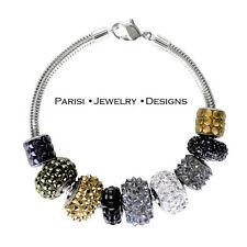Becharmed Swarovski Bracelet Micropave Crystal Charm Bracelets Sterling Silver
