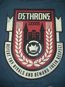 DETHRONE ROYALTY MENS SZ XLDEFEAT THY RIVALS AND DEMAND THEIR RESPECT FREE POST