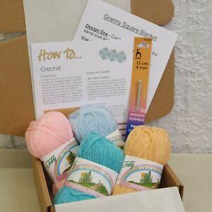 Crochet STARTER kit ideal for a beginner yarn, hook, Adults & Children