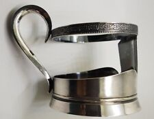 Soviet Russian 875 Silver Glass Holder vintage