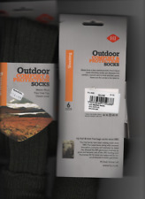 OUTDOOR TURN OVER TOP SOCKS WOOL BLEND SIZE 6-10