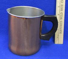 Vintage Copper Plated Breakfast Milk Pitcher Creamer Black Handle