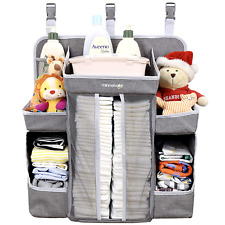 Minnebaby Baby Nursery Organizer Diaper Caddy Hanging Changing Table Stacker