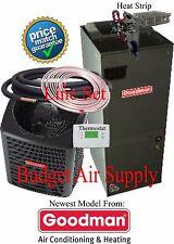 3.5 ton 14 SEER 410 Goodman A/C System GSX14042+ARUF47D14+25ft LineSet+HeatStrip