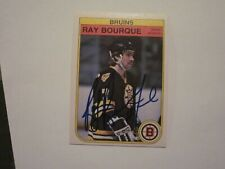 RAY BOURQUE SIGNED AUTOGRAPHED 1982 O-PEE-CHEE OPC CARD BRUINS HOF