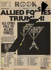 Triumph LP/Tour advert Creem magazine 1981