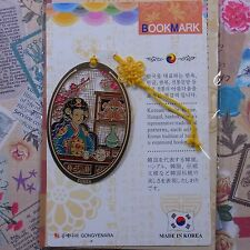 Metal Bookmark Korea Traditional Hangul Hanbok Freeshipping