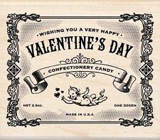 Valentine's Day Label Rubber Stamp Wrapper Steampunk Chocolate Cherub Gothic Wed
