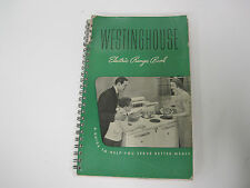 WESTINGHOUSE ELECTRIC RANGE BOOK - 1939