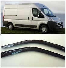 For Peugeot Boxer 2007-2014 Side Window Visors Sun Rain Guard Vent Deflectors