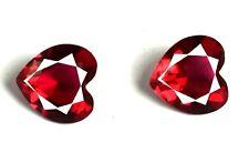 100% Natural Heart Shape Burma Ruby Gemstone 4.90 Ct Matching Pair Certified