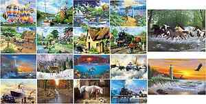 LARGE A3 ACRYLIC PAINT BY NUMBERS KITS BRUSH INSTRUCTIONS PICK FROM 18 PAINTINGS