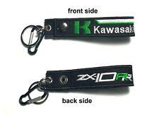 Kawasaki ZX10RR Belt Keychian Tag Racing Biker Motorcycle Embroidered