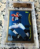 PEYTON MANNING 2010 Topps CHROME Reprint 1998 Rookie Card RC BGS 9.5 $$ HOT $$