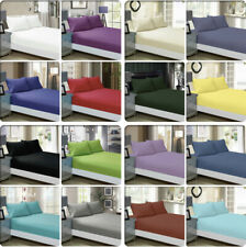 1000TC Ultra SOFT FITTED Sheet Pillowcase Set(No Flat)Queen/King/Super Size Bed