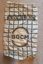 More details for vintage bocm linen grain sowlac a sack, upholstery