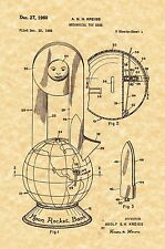 Patent Print - Vintage Moon Rocket Mechanical Coin Bank - Ready To Be Framed!
