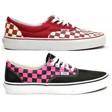 debc170e563 Vans Authentic Check Trainer Shoes Low Tops Available In Pink Check   Red  Check