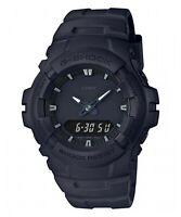 Casio G-Shock G-100BB-1A Analog Digital Matte Black Mens Watch 200M WR G-100 New