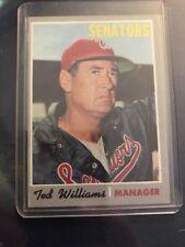 Ted Williams 1970 Topps Manager Vintage Baseball Card Washington Senators #211