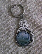 Vintage USS Alabama Battle Ship Mermaid Key Chain