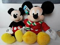 """2 x Disney Store Plush Soft Toy Mickey Mouse 12 """" and 18 """" inches Toy"""