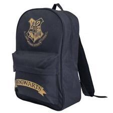 Harry Potter Hogwarts Backpack Zip Front Pocket Bag in Black