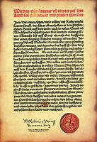 Urkunde Reinheitsgebot Blechschild Schild gewölbt Tin Sign 20 x 30 cm FA1533