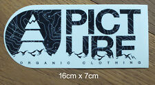 Picture Organic Clothing snowboard Surf Outdoor Mountain Aufkleber Sticker -S002