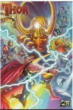 ALEX ROSS Poster ~ THOR w/ Loki Avengers~ MARVEL Comics 75th Ann 2014 ROLLED/NEW