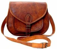 Genuine Leather handcrafted Women's Brown Handbag/Purse/Tote/ling Shoulder Bag