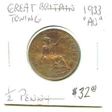 1933 - Great Britain - Half Penny - Very Nice Coin!!!