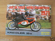JAN DE VRIES 1971 WERELDKAMPIOEN ,WORLDCHAMPION , KREIDLER, NIETO DERBI ,MOTO 2D