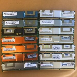Lot of server RAM - PC2-5300 - 667MHz mixed brands - 512MB, 1GB, 2GB