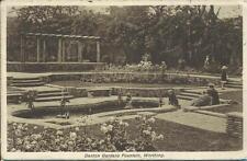 Vintage 1928 Postcard - DENTON GARDENS FOUNTAIN, WORTHING, SUSSEX