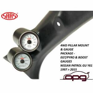 SAAS Pillar Pod Gauge Package for Nissan Patrol GU Y61 1997>16 Boost EGT Gauges