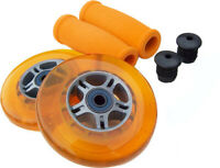 ORANGE Replacement Razor Scooter WHEELS, ABEC 7 BEARINGS, ORANGE GRIPS