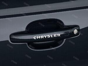 6 x Chrysler Stickers for Door handles Crossfire 300C Voyager Neon PT Cruiser W
