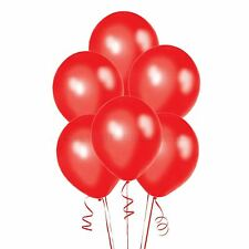 100  Metallic Red Balloons Latex Birthday Christmas Party Decorations UK FAST