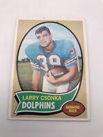 1970 Topps Football  LARRY CSONKA Miami Dolphins Card #162 Hall of Famer Nice