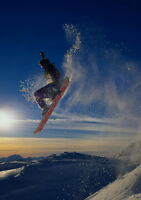 Art print POSTER Snowboarder Jumping
