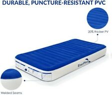 Never-Leak Twin Air Mattress with Built in Pump Raised Luxury Twin Airbags New