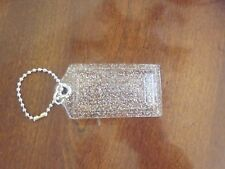 Coach  Acrylic Clear Silver  Glitter XL Purse Key Chain Fob Ring Charm Hang Tag