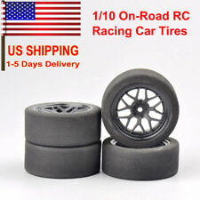 1/10 On-Road RC Racing Car 12mm Hex Wheel Rims 67mm Foam Tires Tyre For HSP HPI